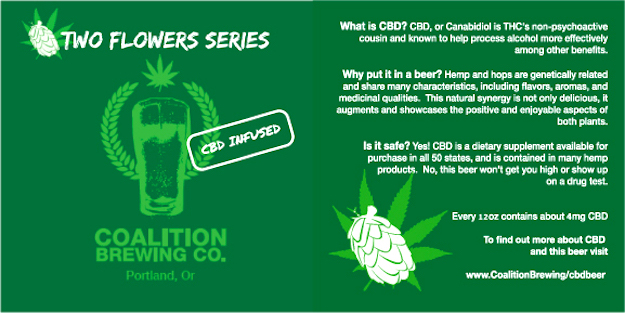 beer infused with CBD oils